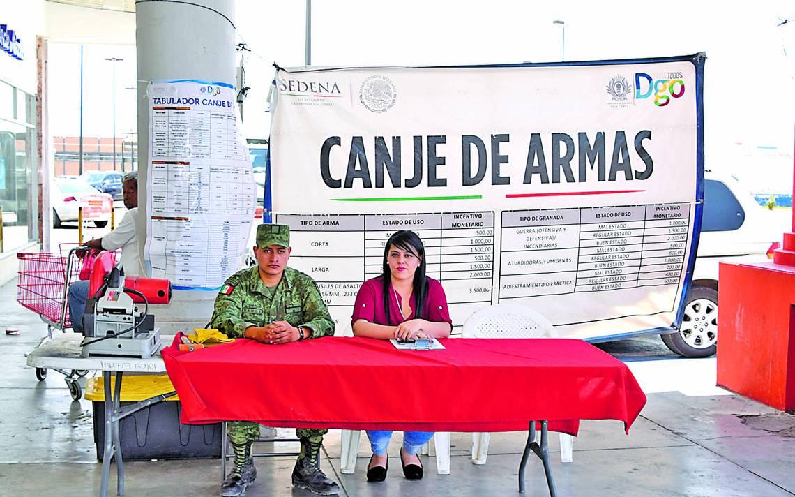 Inicia Sedena Canje De Armas De Fuego El Sol De Durango
