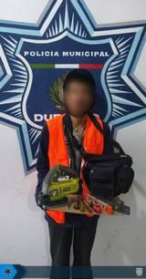 En Durango capital, policías municipales arrestaron a un presunto ladrón/ Foto: Cortesía | DMSP